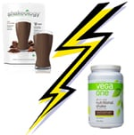 Vega One vs Chocolate Vegan Shakeology