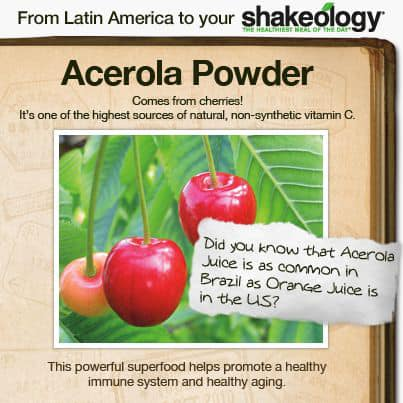 The Beachbody Shakeology shake contains ingredients from around the world!