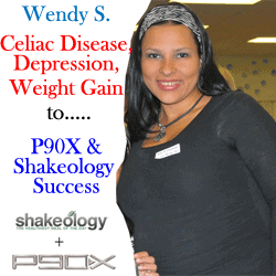 Wendy S. before doing P90X and drinking Shakeology