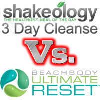 Shakeology Cleanse vs. Beachbody Ultimate Reset