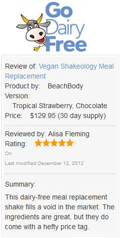 Go Dairy Free: Shakeology Review
