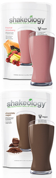 Beachbody Vegan Shakeology flavors: Tropical Strawberry & Chocolate Vegan