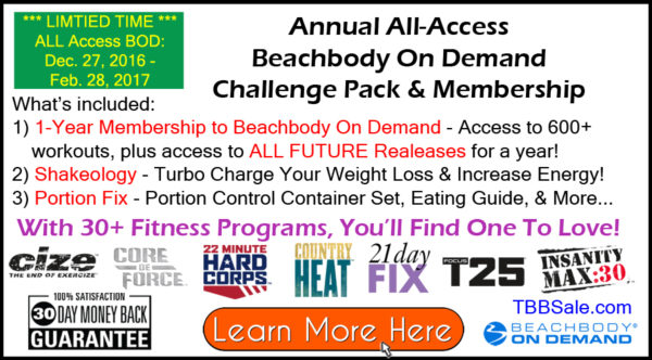 Annual All-Access Beachbody On Demand Challenge Pack
