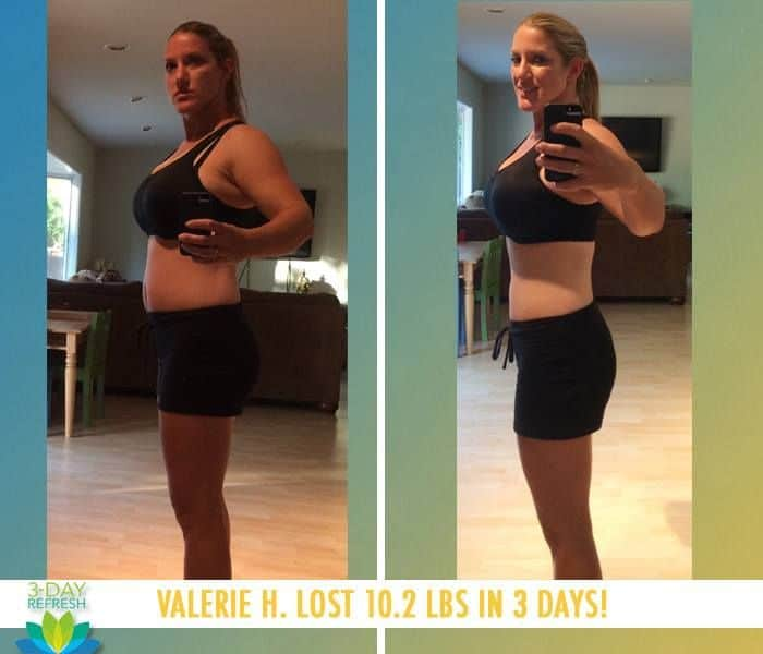 "Beachbody 3 Day Refresh review: ""On day four I felt awesome! I felt lighter, trimmer, less bloated and refreshed. The program accomplished what I hoped by getting my nutrition back on track."" - Valerie H. lost 10.2 lbs"