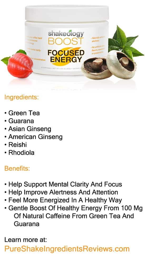 Shakeology Boosts: Focused Energy Boost. Gain not only energy but also mental clarity and focus!
