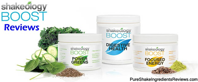 Shakeology Boosts Reviews of Focused Energy, Power Greens, and Digestive Health.