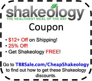 Shakeology price discounts