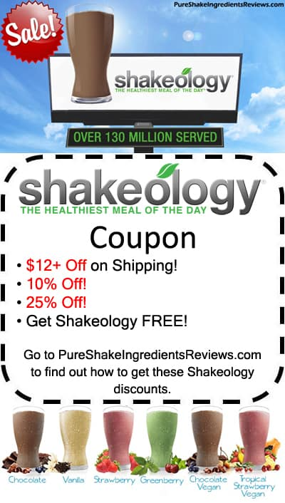 Save money on Shakeology without a Shakeology Coupon or Promo Codes. Get a Shakeology discount here: http://www.pureshakeingredientsreviews.com/shakeology-coupon-discount