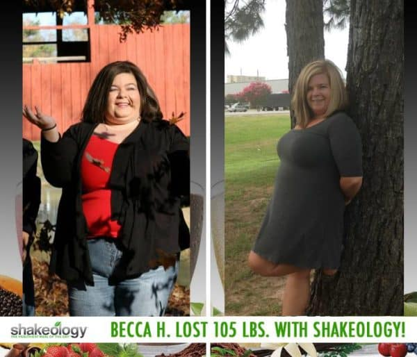 Becca Gained Energy & Lost 105 LBS with Shakeology