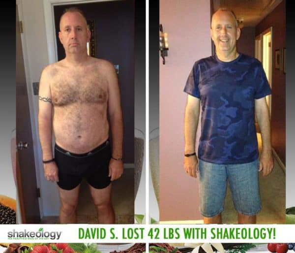David Says Shakeology is His Secret To Weight Loss. He Lost 42 LBS
