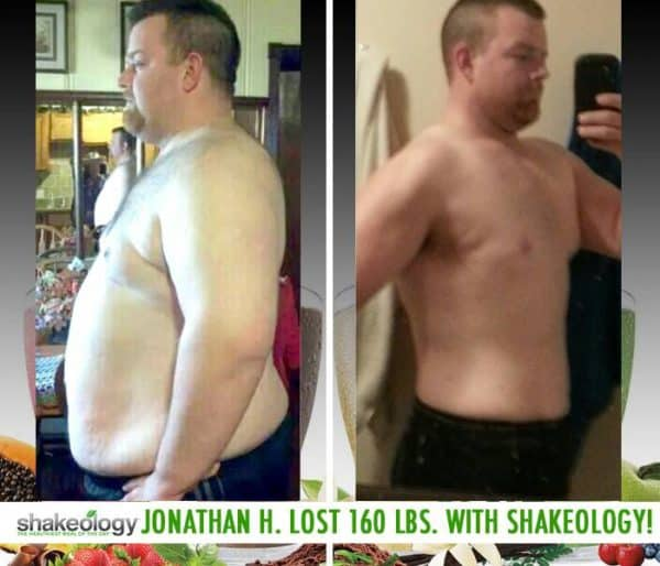 Jonathan's Eating Habits & Health Improved. Plus He Lost 160 LBS with Shakeology