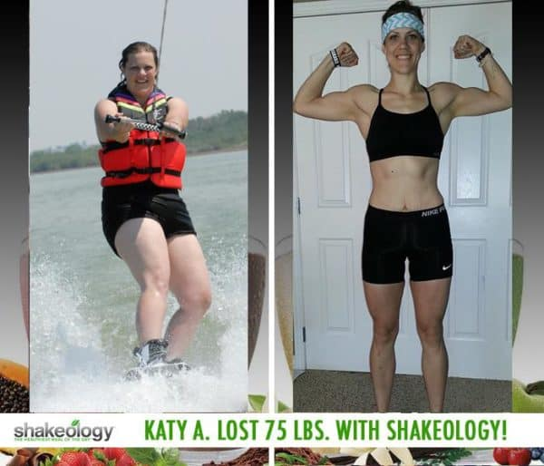 Katy Improved Her Digestive System, Gained More Energy, & Lost 75 LBS with Shakeology!