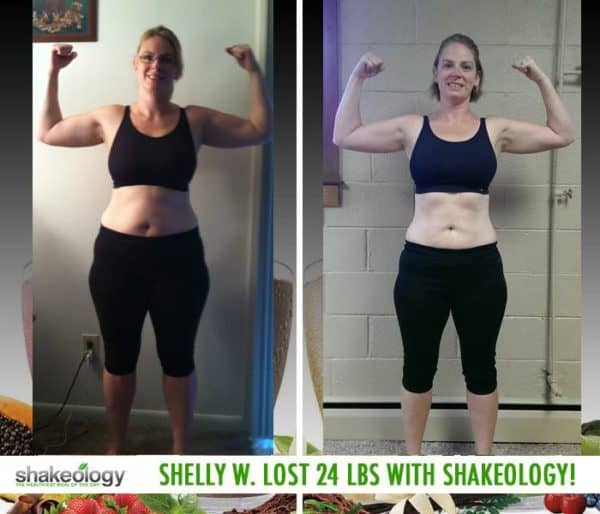 Shelly Stays Away from Junk Food & Lost 24 LBS with Shakeology