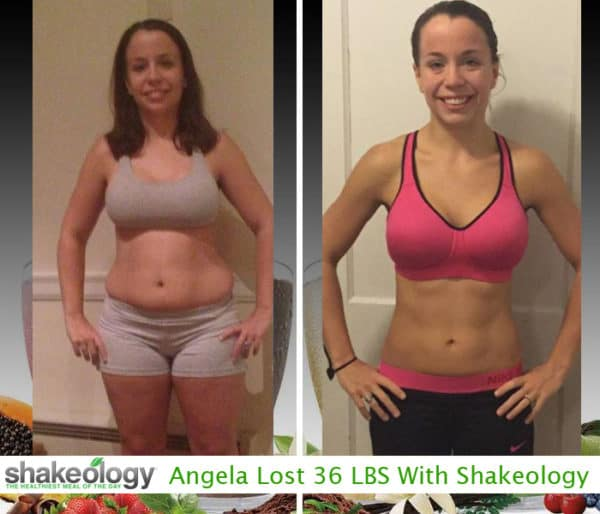 Angela Lost 36 LBS with Shakeology