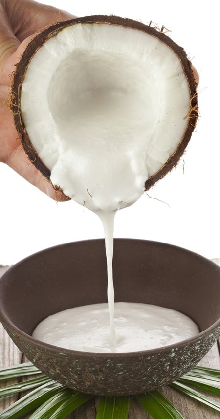 One of the best alternatives to milk for healthy smoothies for weight loss is Coconut Milk.
