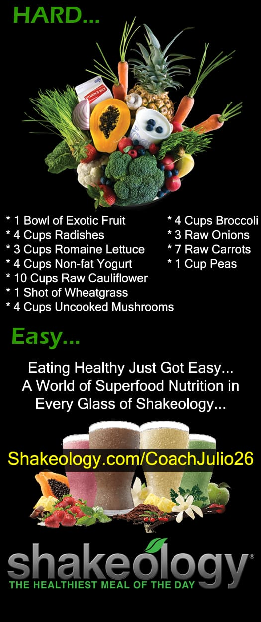 What is Shakeology? Shakeology is a health breakfast smoothie that makes it easy to get all the nutrition you need everyday. Lose weight, increase energy, gain new health, and much more!