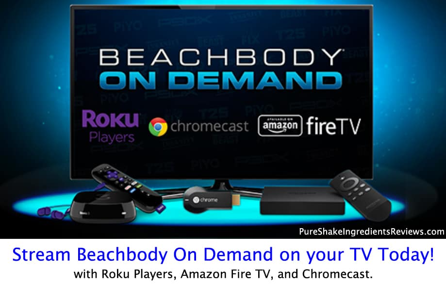 Beachbody on Demand can be played with Roku, Chromecast, and Amazon Fire TV!