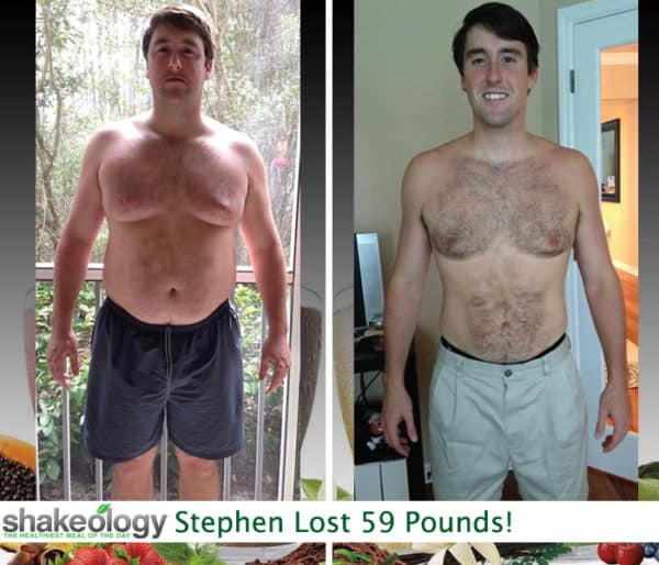 Stephen Lost 59 LBS with JUST Shakeology!