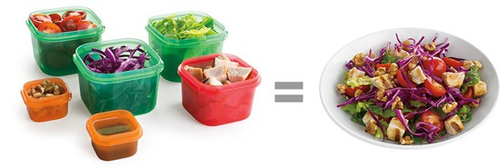 How to use 21 Day Fix Containers to create a meal.