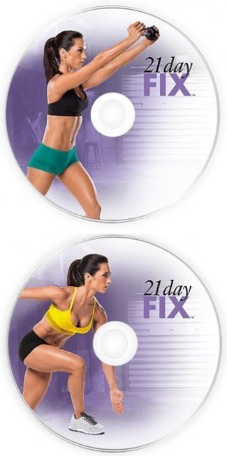 The 21 Day Fix workouts come one 2 DVDs.