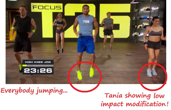 Focus T25 offers a modifier for every move. Great for beginners or those who struggle with being physically active.