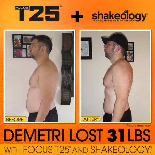 Fomr Killing Himself At The Gym To Finally Losing Weight with T25 & Shakeology!