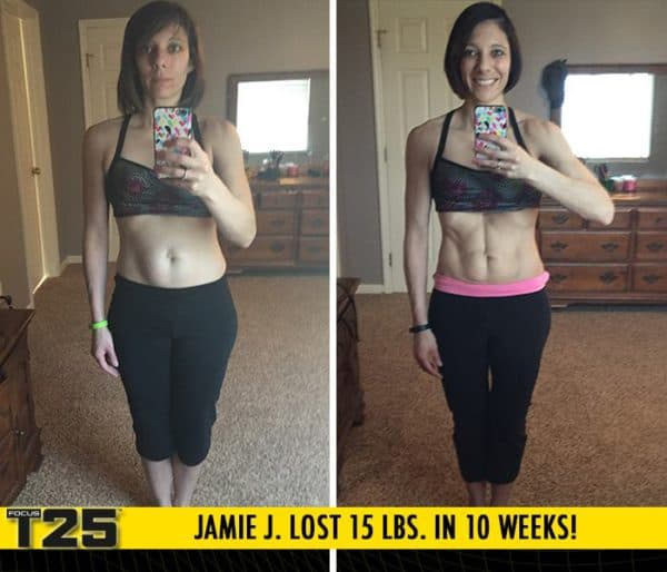 Jamie J. Lost 15 lbs. and 10 inches in 10 weeks with Focus T25!