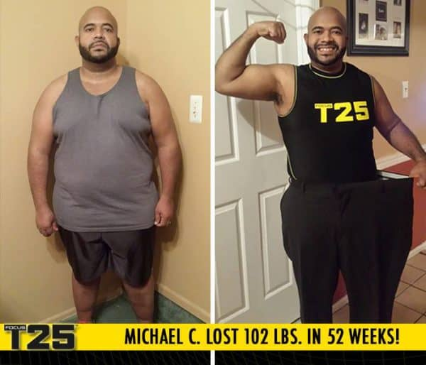 Michael C. Lost 102 lbs. in 52 weeks with Focus T25!