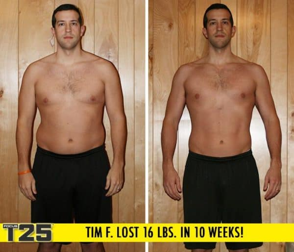 Tim F. Lost 16 lbs. in 10 weeks with Focus T25!