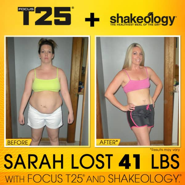 Sarah Felt FAT, UGLY, SLUGGISH, & DEPRESSED... T25 & Shakeology Changed That!