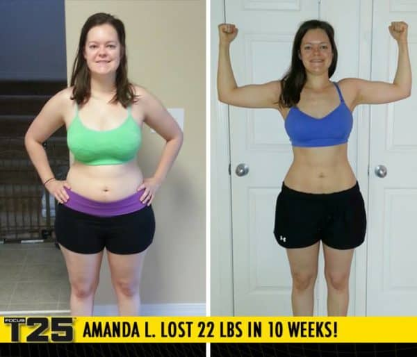 Amanda L. Lost 22 lbs in 10 weeks with Focus T25!