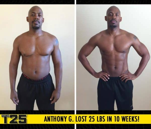 Anthony G. Lost 25 lbs in 10 weeks with Focus T25!