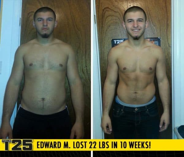 Edward M. Lost 22 lbs in 10 weeks with Focus T25!