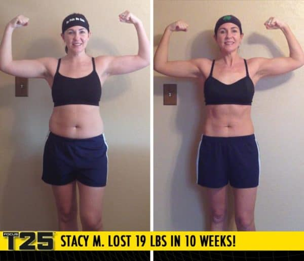 Stacy M. Lost 19 lbs in 10 weeks with Focus T25!