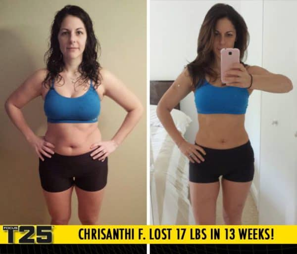 Chrisanthi F. Lost 17 lbs in 13 weeks with Focus T25!