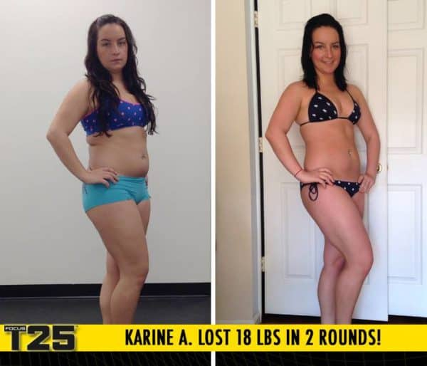 Karine A. Lost 18 lbs in 2 rounds of Focus T25!
