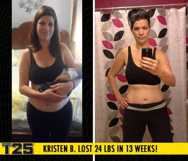 Kristen B. Lost 24 lbs in 13 weeks with Focus T25!