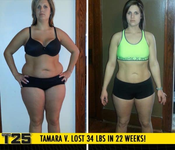 Tamara V. Lost 34 lbs in 22 weeks of Focus T25!