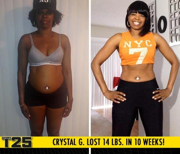 Crystal Lost 14lbs with Focus T25 in just 10 weeks!