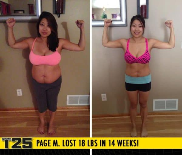 Page M. Lost 18 lbs in 14 weeks with Focus T25!