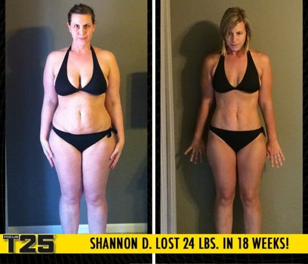 Shannon D. Lost 24 lbs. in 18 weeks with Focus T25!