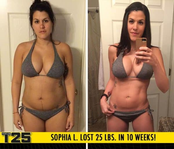 Sophia L. Lost 25 lbs. and 31 inches in 10 weeks with Focus T25!