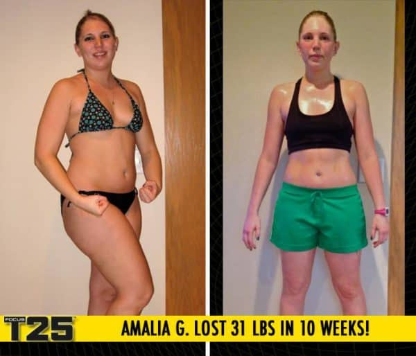 Amalia G. Lost 31 lbs in 10 weeks with Focus T25!