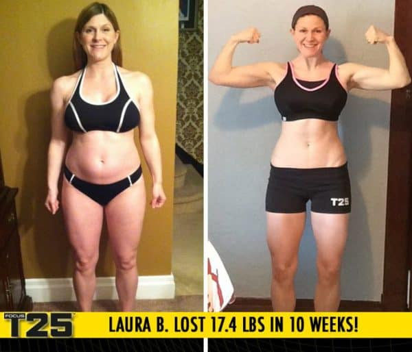 Laura B. Lost 17.4 lbs in 10 weeks with Focus T25!