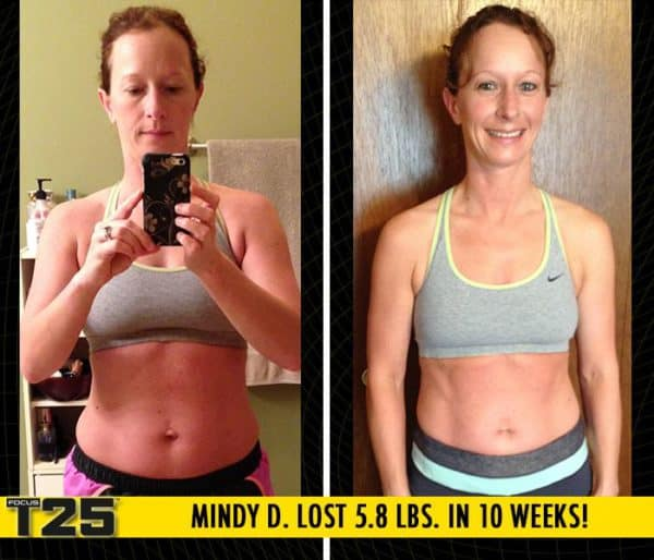 Mindy D. Lost 5.8 lbs. & 10.7 inches with Focus T25!