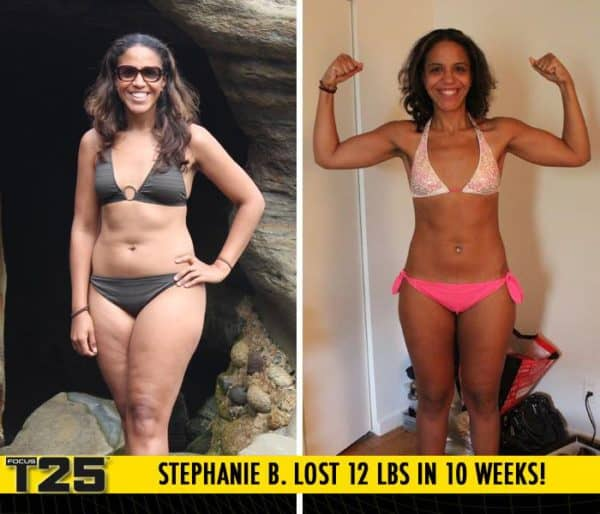 Stephanie B. Lost 12 lbs in 10 weeks with Focus T25!
