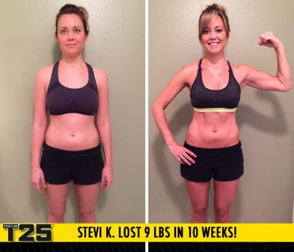 Stevi K. Lost 9 lbs in 10 weeks with Focus T25!