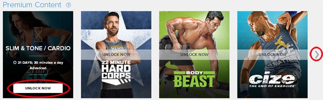 Beachbody on Demand Premium Content