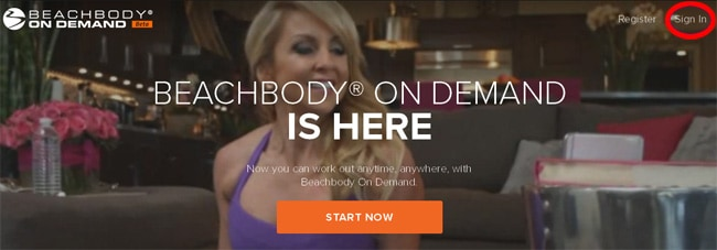 Beachbody on Demand - Sign in Link