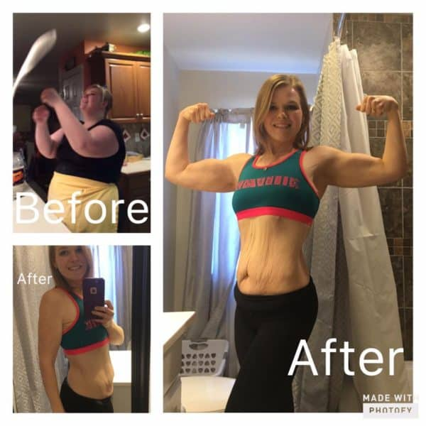 Before and After Shakeology & 21 Day Fix